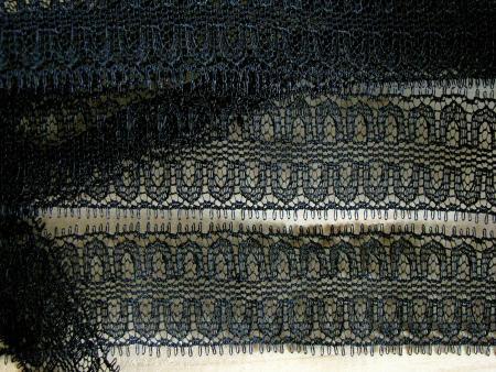 6m zarte Zierspitze in schwarz Fb4000