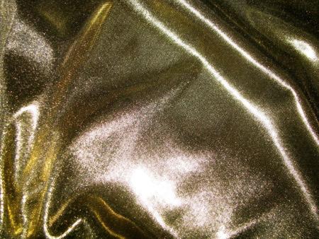 1m Folien-Jersey in glänzendem gold