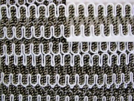 Posamenten-Borte in perl-weiß und gold