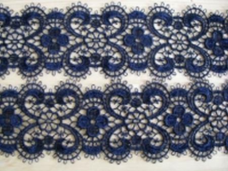 Makramee-Spitzen-Borte in nacht-blau