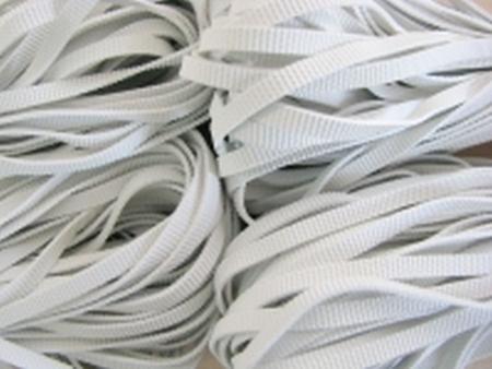 12m Badegummi in natur-weiß - 3mm