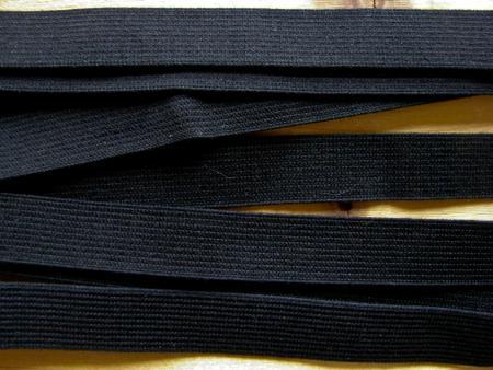 6m Besatz-/Einziehgummi in schwarz Fb4000