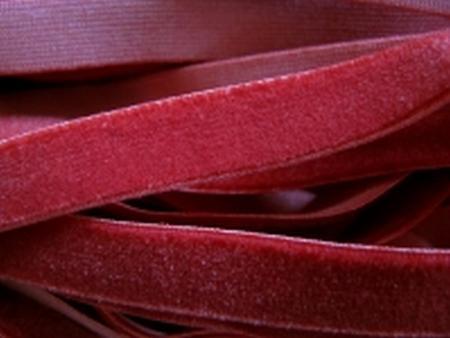6m Samtband elastisch in vino-rot Fb0105