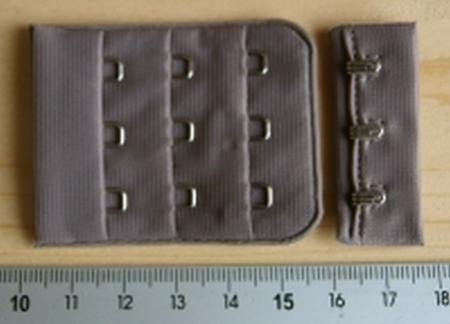 BH-Verschluss - graubraun/Richtung taupeFb0269