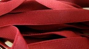 5m Träger-Gummi in rost-rot, satiniert
