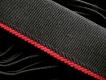 4m Bundgummi in schwarz Fb4000/rot