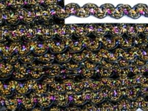 5m Zier-Borte mit Lurexfäden in schwarz