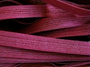 6m Dekoltee-Gummi in dunklem burgund Fb0109