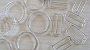 4 Schieber und 4 Ringe in klar/transparent - 20mm