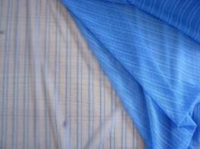 Bi-elastischer, fein gestreifter Tüll in enzian-blau Fb0815