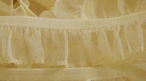 Rüschengummi in vanille-gelb Fb0781
