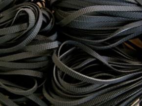 12m Badegummi in schwarz - 3mm