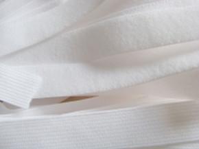 6m zarter Velour-Gummi in rein-weiß Fb2000