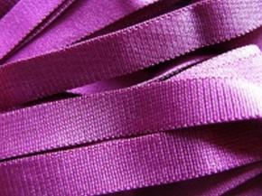 5m Satin-Träger-Gummi in rot-violett Fb1062