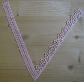 Spitzenapplikation - in rosa