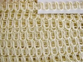 5m Posamenten-Borte in gold-creme Fb078