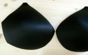 1 Paar BH-Körbchen/Schalen in schwarz 50er