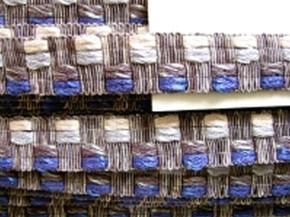 1m Webborte-Borte in blau, silber, grau...
