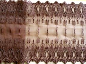 elastische, bestickte Spitze in warmen schoko-braun Fb0833