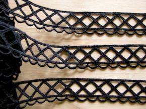 4m Netz-Zierborte in schwarz Fb4000