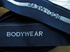 "4m Bundgummi ""Bodywear"" in jeans-blau Fb1467 - 3,3cm"