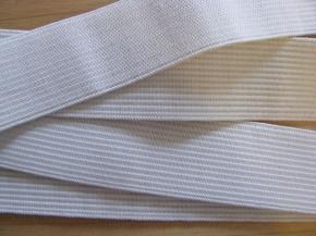 4m Bundgummi in rein-weiß - 25mm breit