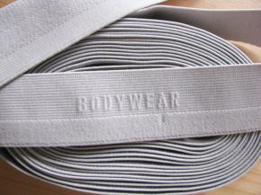"""4m Bundgummi """"Bodywear"""" in perl-grau Fb0331 - 3cm"""