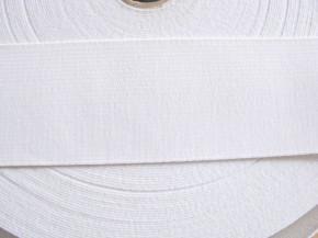 4m Bundgummi rein-weiß - 5,5cm breit Fb4000