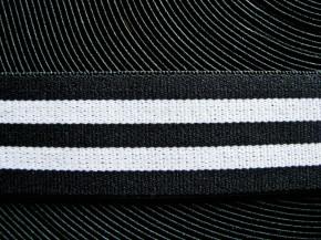 4m Bundgummi  in schwarz/weiß