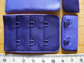 BH-Verschluss/zweifärbig - d.violett und milka-lila Fb0046...