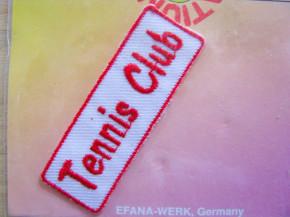 Bügelbild -Tennis Club- rot