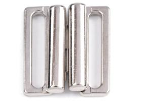 2 Paar Verschlüsse in silber/Metall - 18mm