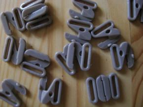 3 Paar Verschlüsse in coffee sugar Fb1230 - 10mm