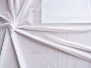 1m bi-elast. Netzgewebe, leichter Futter-Stoff in rein-weiß Fb4000