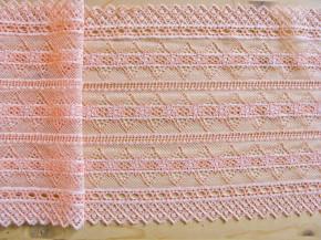 1,8m elastische Spitze in zarter pfirsichblüte Fb0081