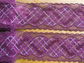 "1m elastische Spitze ""Violett Dreams of Wonder"""