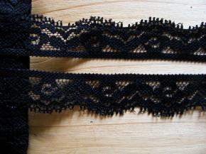 3m elastische Abschluss-Spitze in schwarz Fb4000