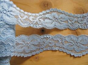 2m elastische Spitze in baby-blau Fb0818