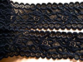 1m elastische Spitze in schwarz Fb4000