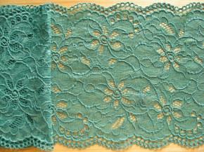 1m elastische Spitze in smaragd-grün/malachit Fb0240