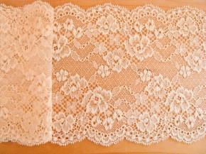 90cm elastische Spitze in pastell-mandarin Fb0134