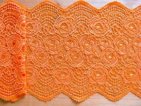 1m elastische Spitze in kräftigem orange Fb1335