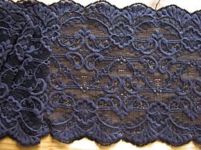 1m elastische Spitze in iron/d.pflaume im Blaustich Fb0580