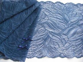 1m elastische Spitze in jeans-blau Fb1467