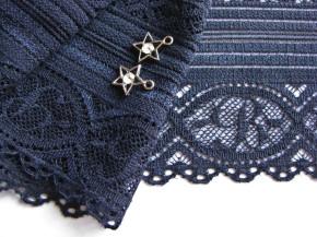 1m elastische Spitze in abend-blau Fb0810