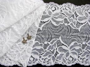 1m elastische Spitze in rein-weiß Fb2000
