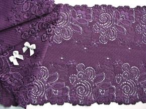 1m elastische Spitze in rot-vioeltt/Richtung veilchen Fb0056