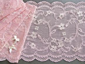 """1m elastische Spitze """"Romantic Flowers"""" - 17,5cm"""