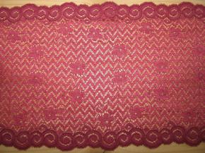 1,25m elastische Spitze in himbeer-rot Fb0869