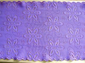 1,75m elastische Spitze in h.violett Fb0030